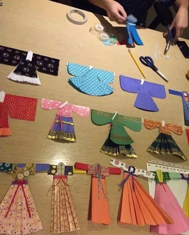 汉服折纸艺术—襦裙的制作过程
